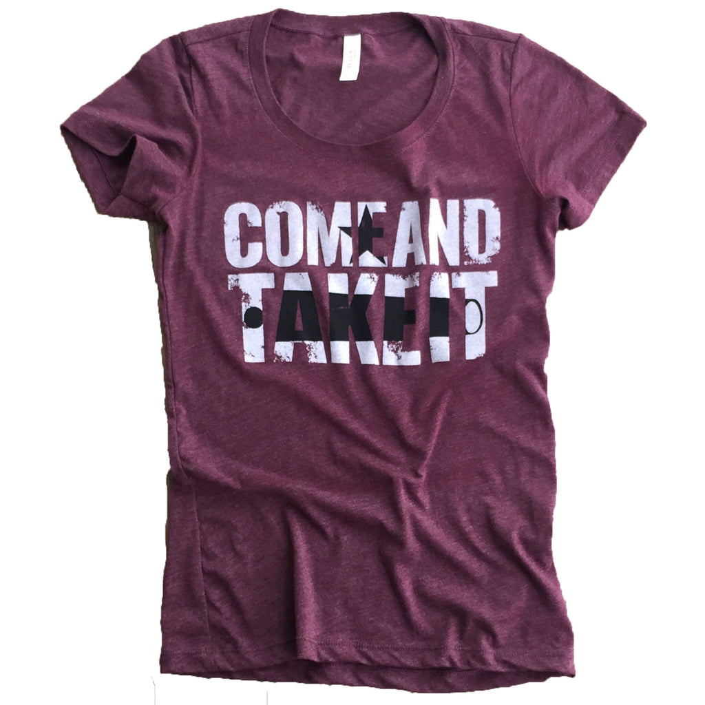 Come And Take It Gonzales Flag Tee for Women by 1836 Heritage