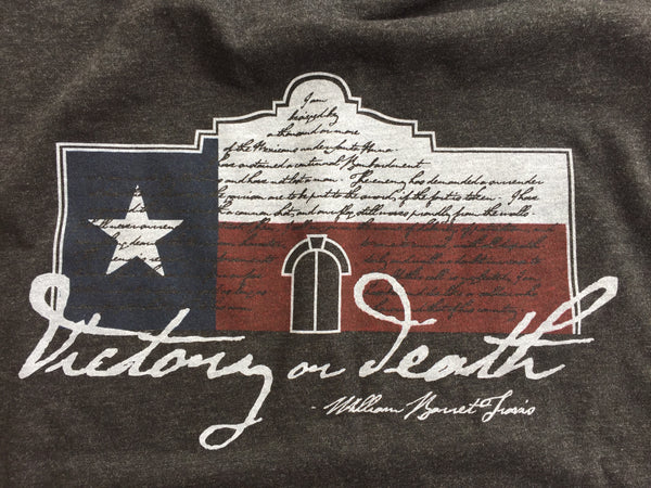 William Barret Travis Victory or Death Letter Alamo Shirt