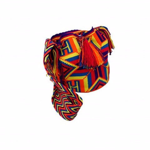 Blue & Red Colored Cocoyana Wayuu Mochila