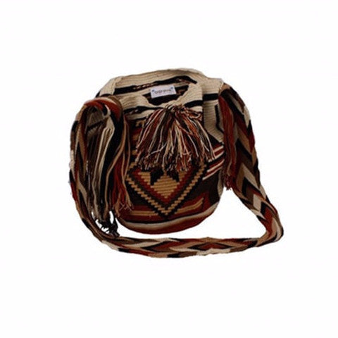 Black & Brown Star Mixed Colored Cocoyana Wayuu Mochila