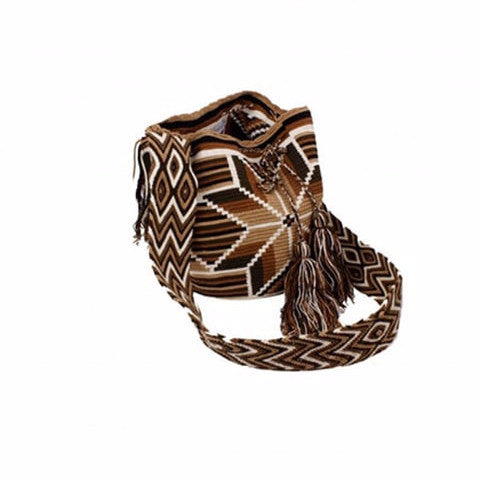 Brown & Black Mix Colored Cocoyana Wayuu Mochila