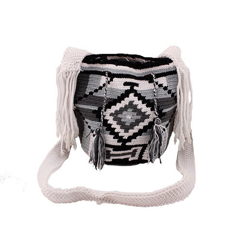 Black & White Mini Wayuu Mochila