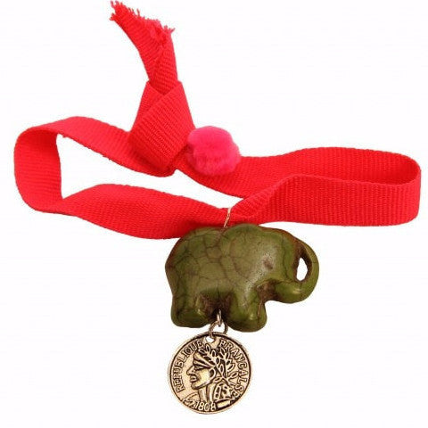 Bag Charm Elephant/Red