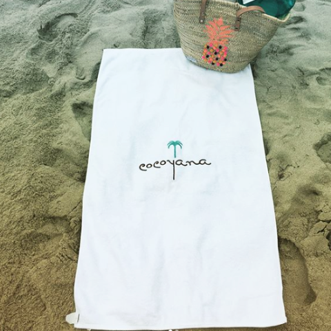 White Cocoyana Beach Towel
