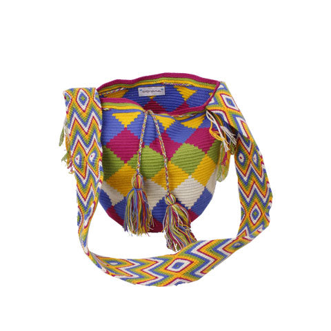 Squared Mixed Colored Cocoyana Wayuu Mochila