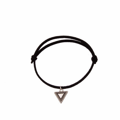 Black Leather Silver Triangle