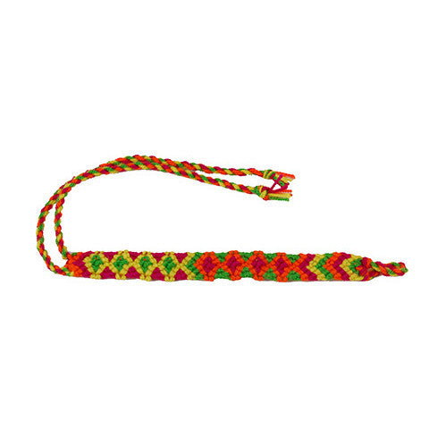 Rainbow Colors Wayuu Anklet