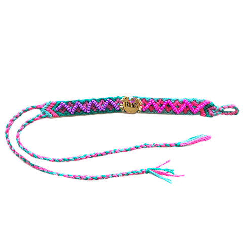 Blue and Pink Friends Wayuu Bracelet