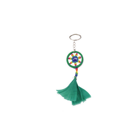 Green Small Cocoyana Feather Bagcharm