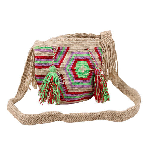 Green & Purple Mini Wayuu Mochila