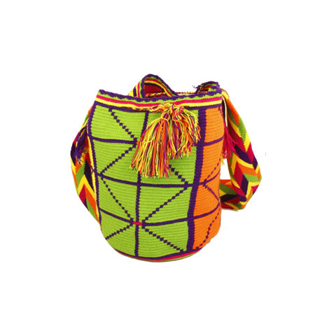 Red and Green Pattern Wayuu Mochila