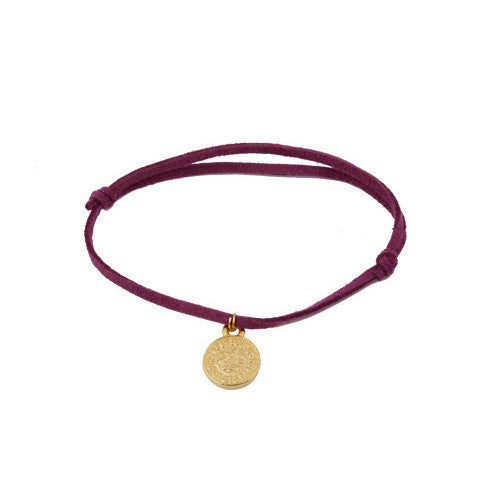 Purple Leather Gold Coin