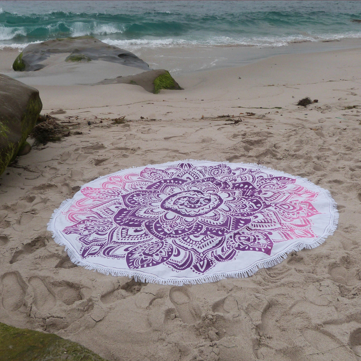 Purple and Pink Bohemian Blanket