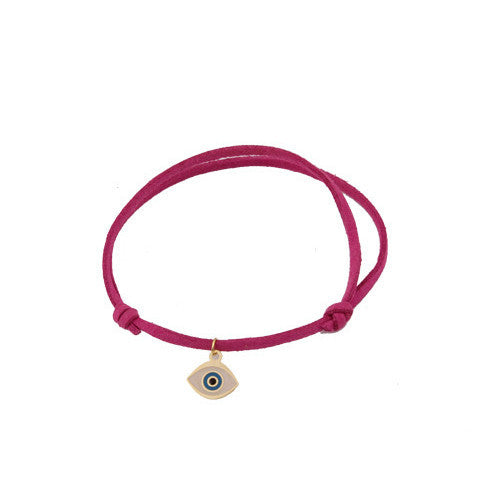 Pink Leather Greek Charm