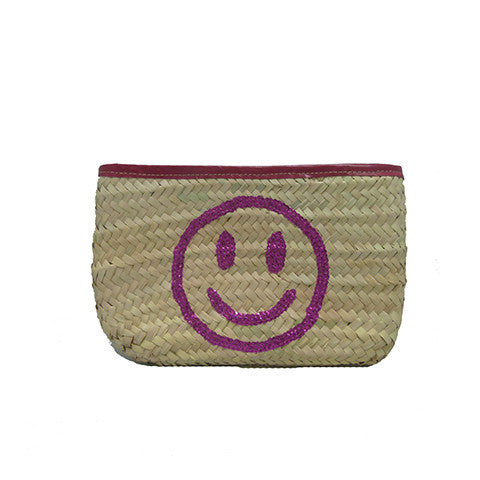 Smile Wicker Clutch