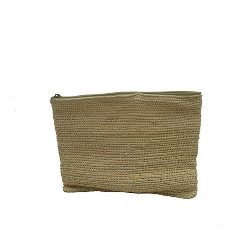 Plain Wicker Clutch