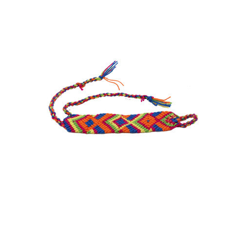 Blue & Orange Wayuu Bracelet