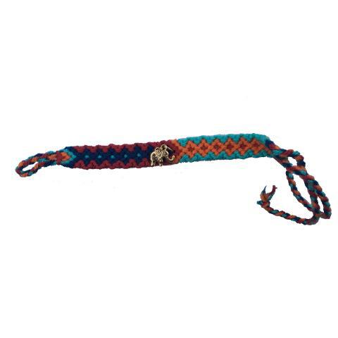 Blue, Orange, and Purple Wayuu Bracelet