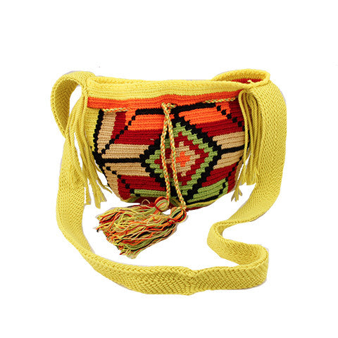 Yellow & Orange Mini Wayuu Mochila