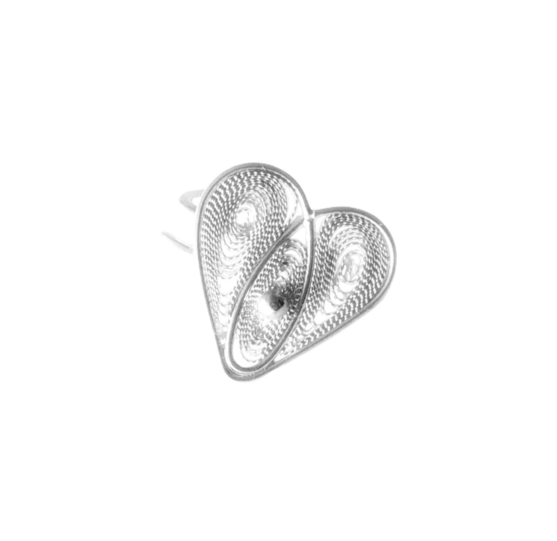 Heart Filigree Ear Clip