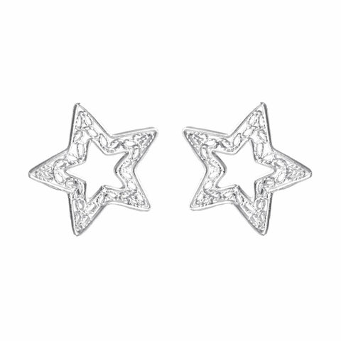 Curved-out Star Filigree Earrings - UMI Handmade