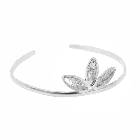 Leaves Filigree Cuff Bracelet - UMI Handmade