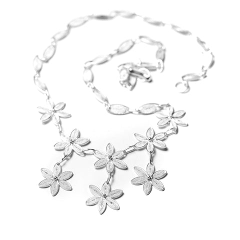 Jasmine Cascade Filigree Necklace - UMI Handmade