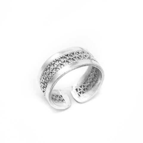 Ñanduti Two Rows Filigree Ring - UMI Handmade