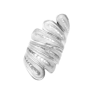 Spiral Filigree Statement Ring