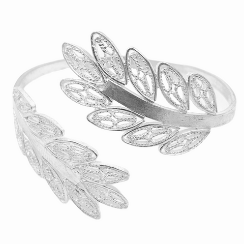 Open Leaves Filigree Cuff Bracelet - UMI Handmade