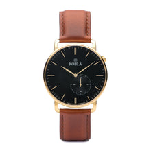 Golden Case / Black Dial / Brandy Leather