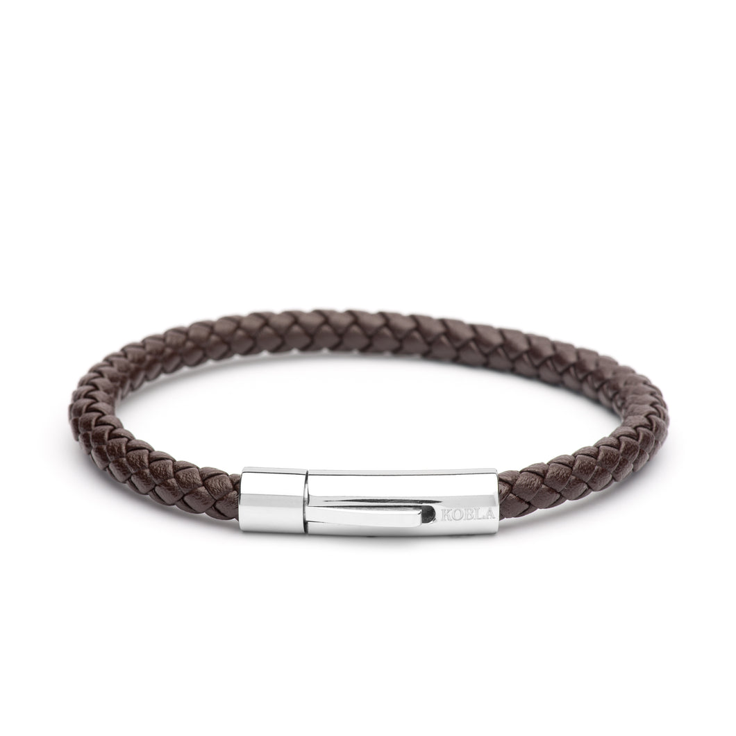Brown Leather Bracelet - Single Strap