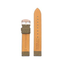 Khaki Suede Leather / Rose Gold Buckle