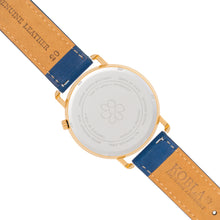 Golden Case / White Dial / Blue Suede Leather