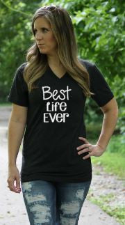 Best Live Ever V Neck Tee - Glittering South