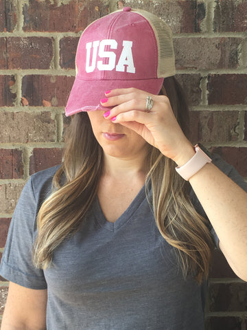 USA HAT - 8 Colors! - Glittering South