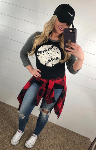 Baseball Raglan - Glittering South