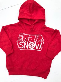 Toddler Hoodie Let It Snow - Glittering South
