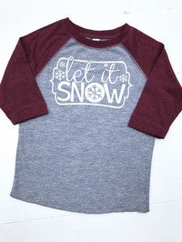 Toddler Raglan Let It Snow - Glittering South