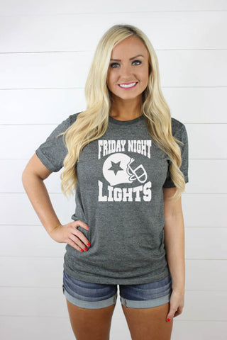 Friday Night Lights Acid Wash Tee - Glittering South