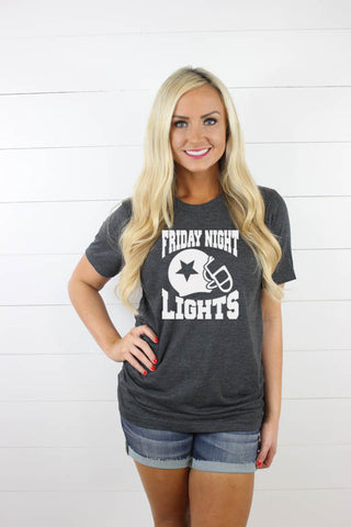 Friday Night Lights Crew Neck Tee - Glittering South