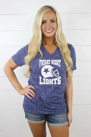 Friday Night Lights V Neck - Glittering South