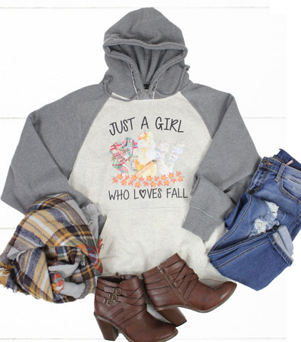 Just A Girl Who Loves Fall Sweatshirt - Glittering South