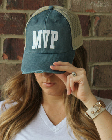 MVP Distressed Hat - 8 Colors! - Glittering South