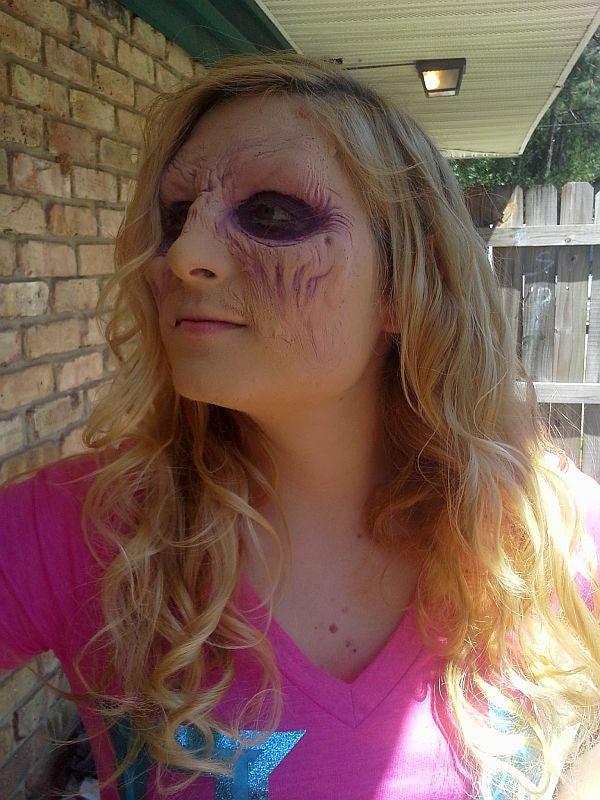 "'Blondie' demon: Makeup application by Acrotomic Studios for Fighting Owl Films' ""Full Moon, Inc."""