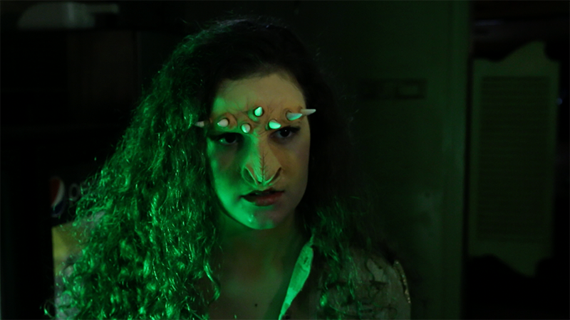"Club creature: Makeup application by Acrotomic Studios for Fighting Owl Films' ""Full Moon, Inc."""