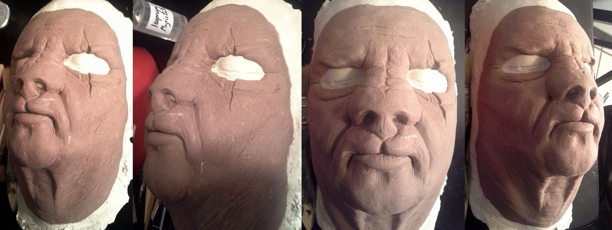 Animalistic face sculpt for Dick Smith's Makeup Course