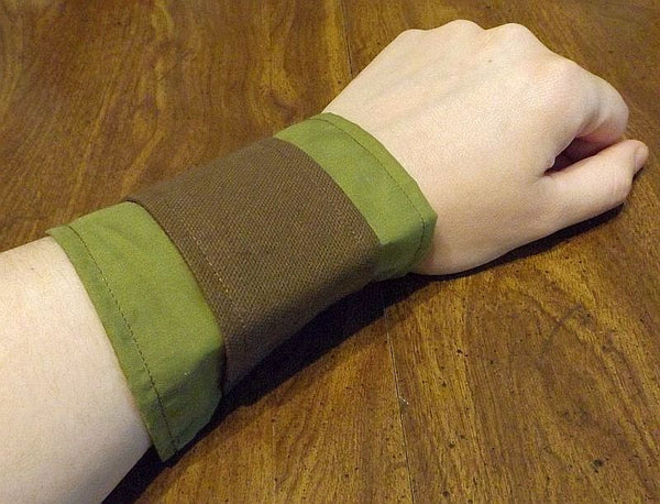 Victorian style Wrist Cuffs - brown and green