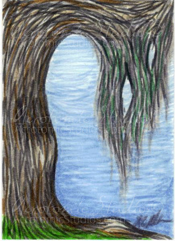 """That Place"" Original ACEO art card"