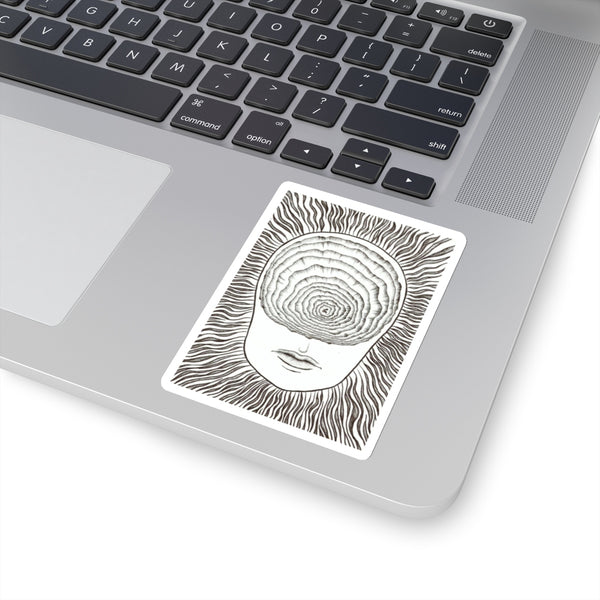 Inward Spiral | Vinyl Sticker | Dark Art Decal